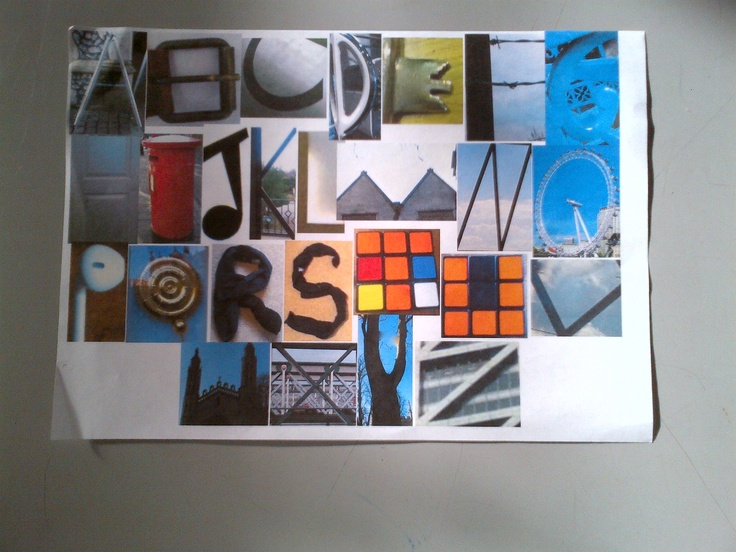 Found Objects Typography Project | Digital Art & Design Lesson ...