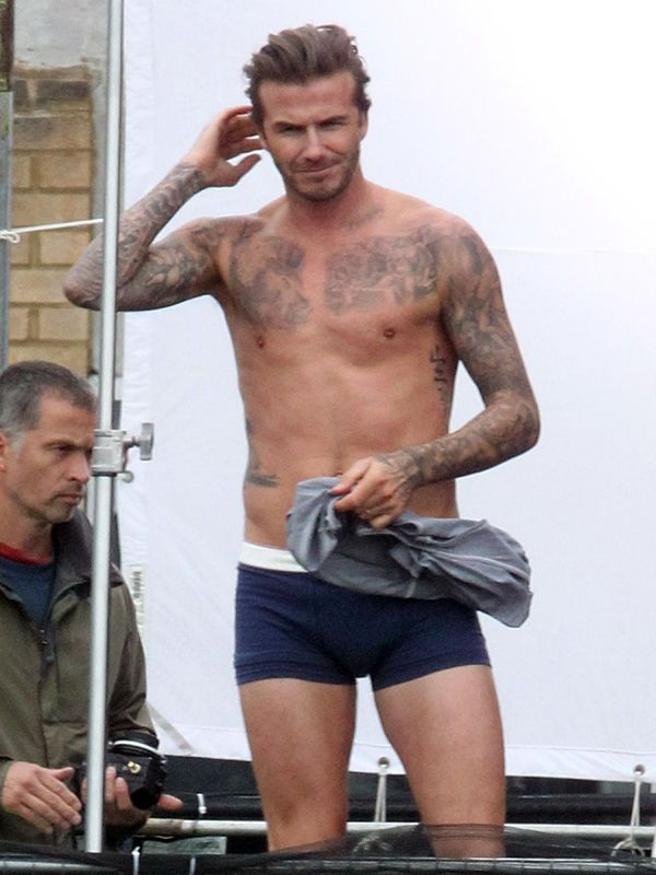 OK! Magazine | David Beckham Shirtless Oh my god... Yes, defiantly in a heart beat