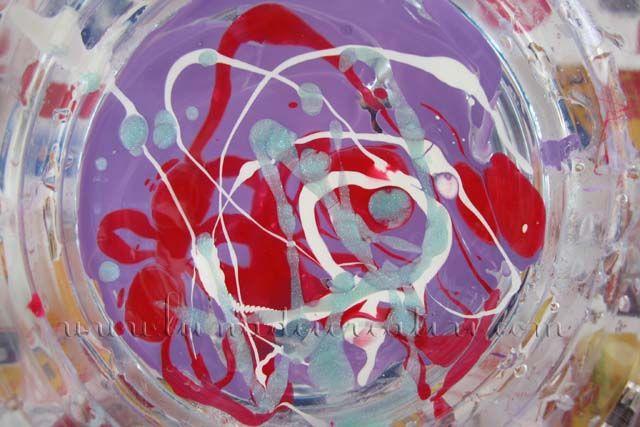 Bicchieri   Acqua   Smalto = Bicchieri di Murano!