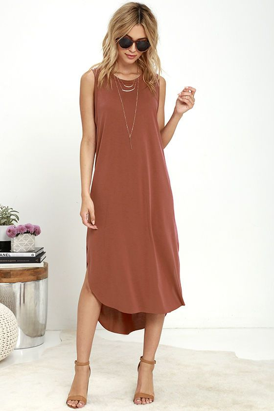 Midnight Lady Washed Red Midi Dress at Lulus.com!