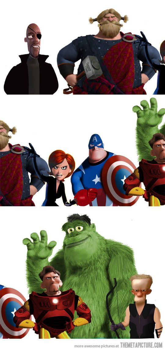 Pixar's The Avengers. I could just see it now...