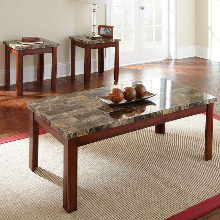 Montibello 3-piece Coffee and End Table Set, Multicolor