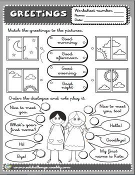 Greetings worksheet teaching english pinterest english greetings worksheet teaching english pinterest english teaching english and english lessons m4hsunfo