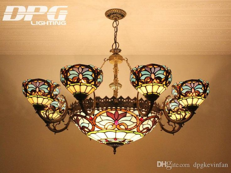 Tiffany Chandelier Stained Glass Pendant Lamps Tiffany Lights With 8 Heads For Home Decoration Bar Coffee Restaurant Indoor Lighting Industrial Pendant Lamp Cheap Pendant Lighting From Dpgkevinfan, $828.75| Dhgate.Com