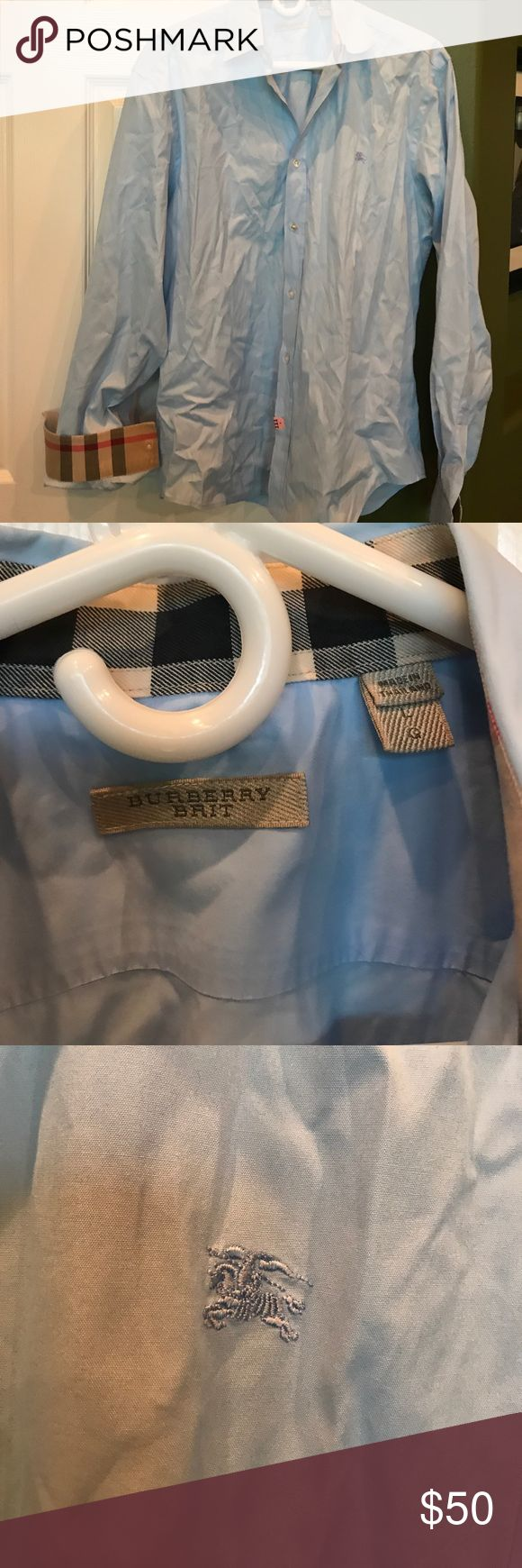 Burberry Brit men's dress shirt Authentic, excellent condition, no flaws, has only been dry cleaned, non smoking home Burberry Shirts
