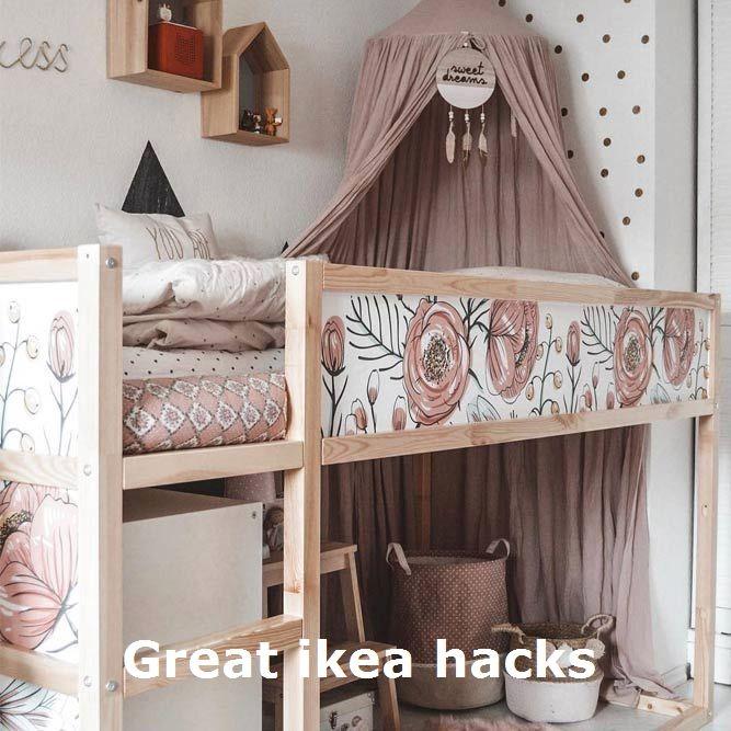Great Ikea Hacks Furniturehacks In 2020 Small Room Bedroom Loft Bed Girly Bedroom
