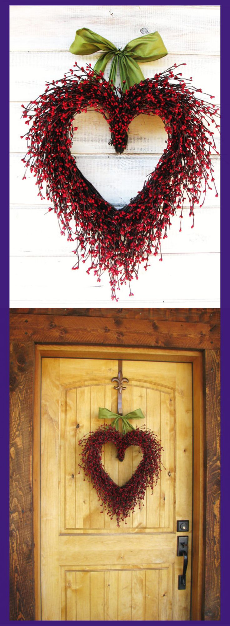 What a pretty hand made Valentine Wreath. It will look great on a door or any wall in a home. Valentine Wreath-Wedding Decor-Wedding Heart Wreath-Mothers Day Gift-Red Heart Wreath-Weddings-Gift for Mom-Say I LOVE YOU-Wedding Gift #valentinesday #affiliate #heartwreath