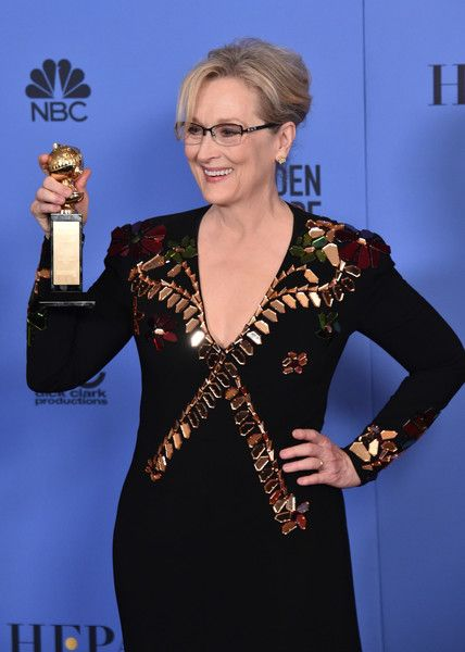 Meryl Streep Photos Photos - Meryl Streep poses in the press room during the 74th Annual Golden Globe Awards at The Beverly Hilton Hotel on January 8, 2017 in Beverly Hills, California. - 74th Annual Golden Globe Awards - Press Room