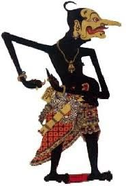 Petruk Clown Character, Wayang Kulit, Java, Leather made