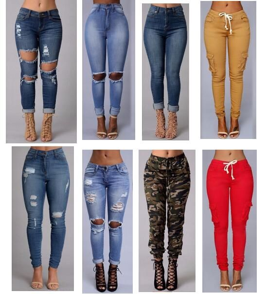 Find More Jeans Information about 2016 sexy fashion new style women high waist jeans Full Length Ripped jeans Skinny  for women's jeans slim pants,High Quality jeans butt,China jean jacket for men Suppliers, Cheap jeans formal from Jesail on Aliexpress.com
