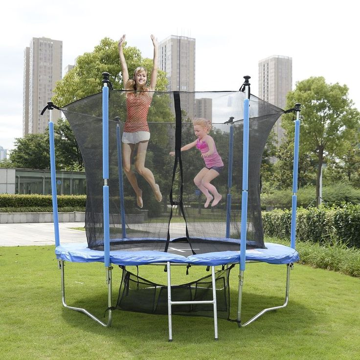 Trampoline Safety Net Padding Kids Ladder Outdoor Children 6FT Play Adults Cover