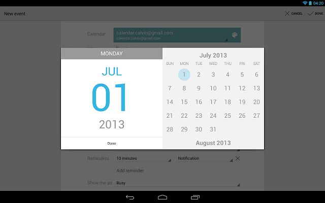 Google Calendar: organiza tu agenda y programa eventos con el calendario oficial de Android http://www.multimediagratis.com/multimedia/dispositivos-moviles/google-calendar-organiza-tu-agenda-y-programa-eventos-con-el-calendario-oficial-de-android.htm