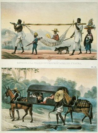 Different Transport In Brazil by Jean Baptiste Debret (1768-1848, France)