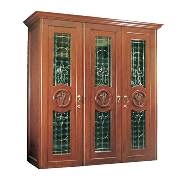 Vinotemp Concord 900 Series Wine Cabinet With 3 Beveled Glass Doors  Vinotemp Wine Cabinets