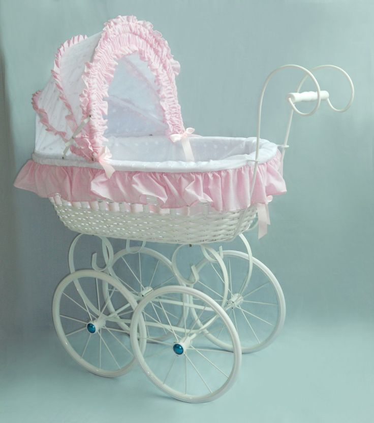 PINK AND WHITE LACE VICTORIAN PRAM P555E: Amazon.co.uk: Toys & Games