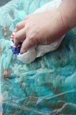 Wet Felting A Silk Scarf...tutorial