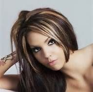 Lovve the color  Caramel Blonde Highlights On Dark Brown Hair