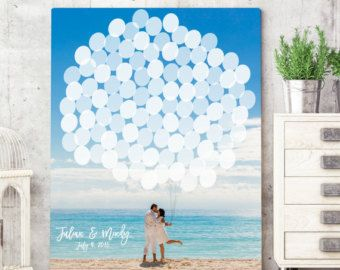Canvas Guest Book Alternative Photo Guest by MissDesignBerryInc
