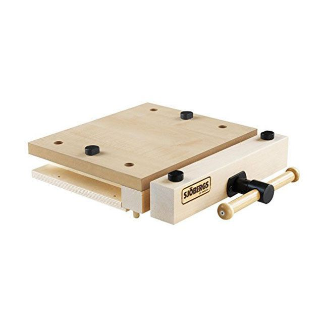 Description: With a 4-1/4-inch Vise Opening the Sjobergs Smart Vise is portable, practical workplace. Can be easily added or attached with clamps to any Sjobergs workbench.