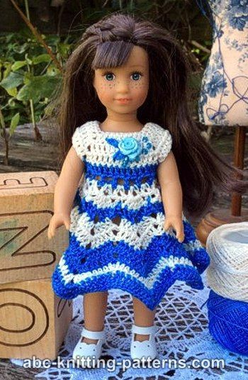 American Girl MINI Doll Chevron Dress