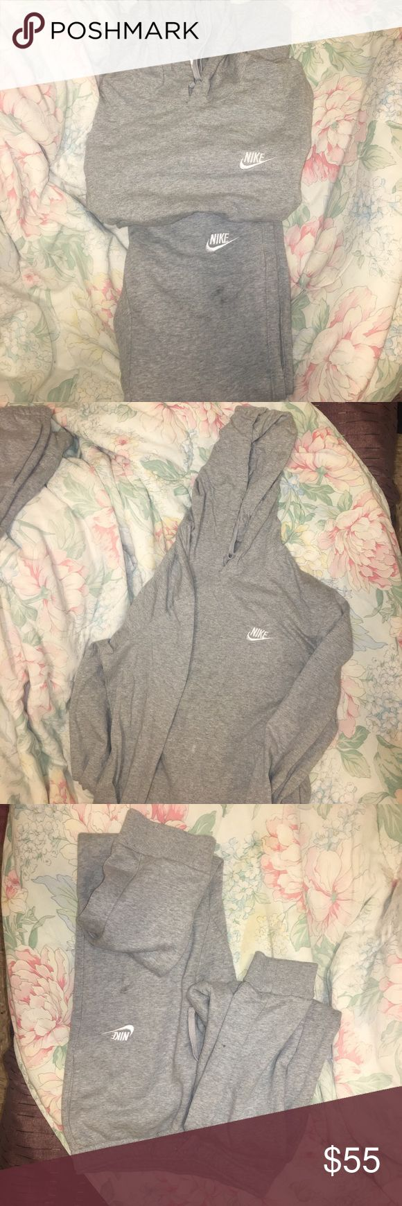 Nike Sweatsuit Perfect condition I'll rewash before I send off. This is a small in MENS. I'm 5'1 and 120 pounds it's big on me. Has to go lol Nike Other