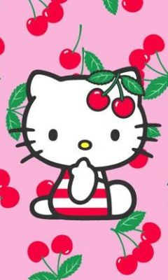 Hello Kitty loves cherries, too! #HelloKitty www.cherryman.com