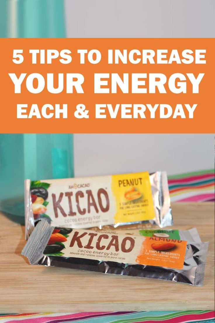 Looking for tips to get more energy? I share 5 tips to feel more energized through the day, and a review of Kicao energy bars.