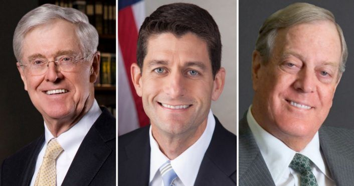 Just In: Koch Brothers Launch Secret Plot To Steal GOP Nomination For Paul Ryan===There goes our democracy.