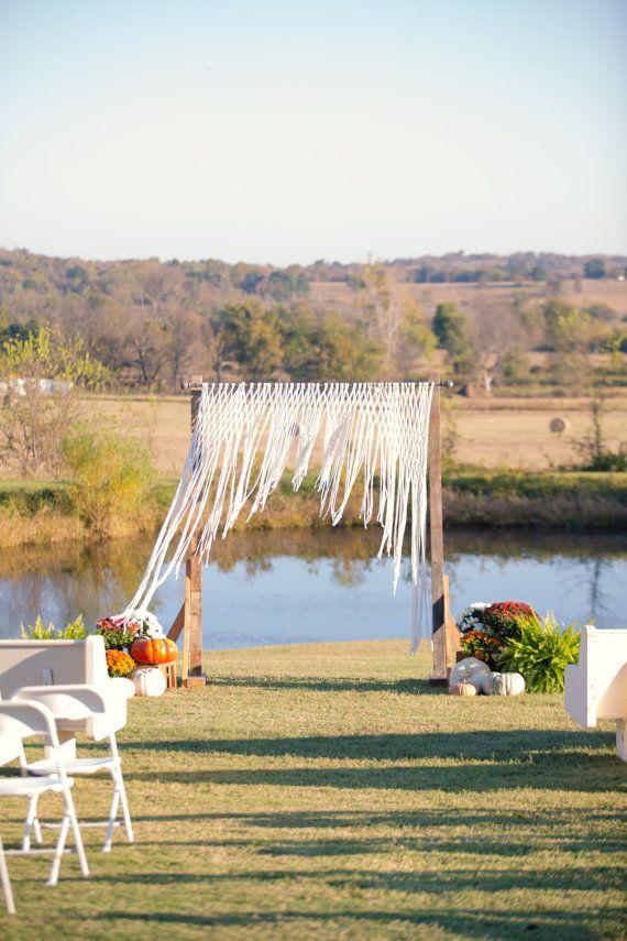 Bohemian Macrame Wedding Backdrop.  Custom handmade according to your…