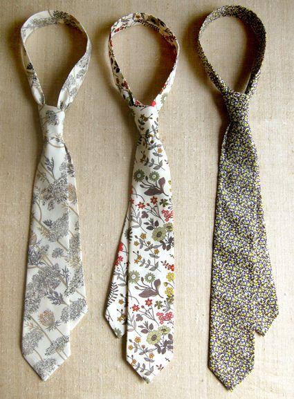 DIY ties for the boys!