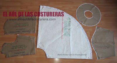 Huasa China. Corte del patrón o molde de costura   EL BAÚL DE LAS COSTURERAS