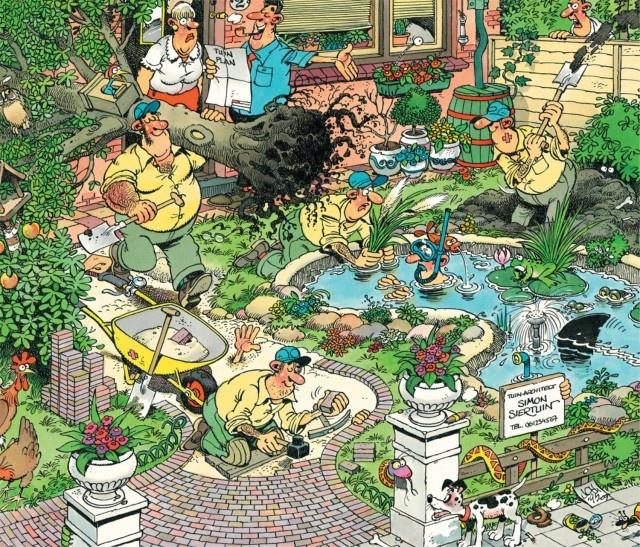 Jan van Haasteren: Tuinruimers  (300 stukjes)