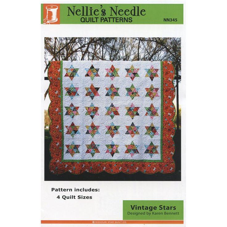 Vintage Stars Pattern - Karen Bennett - Nellie's Needle