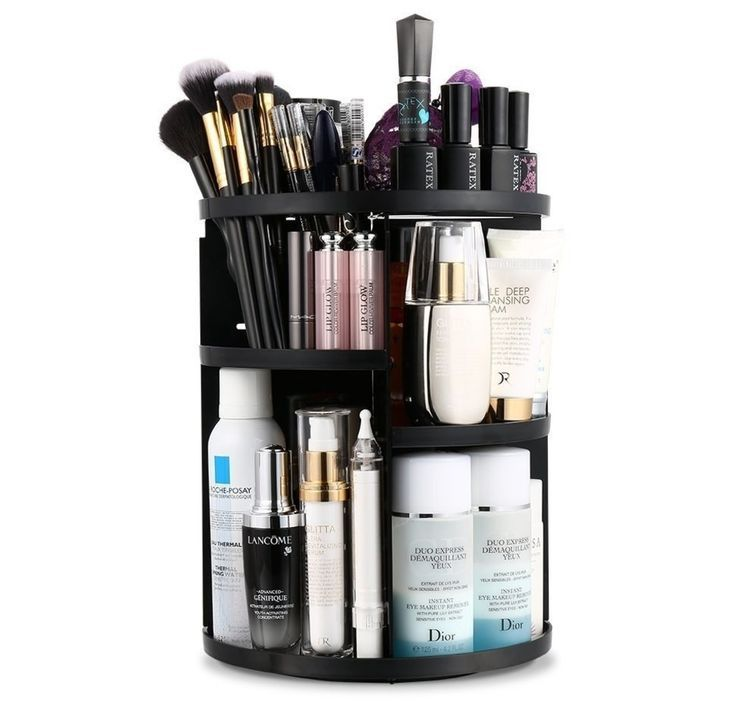A Rotating Makeup Organizer To Keep All Of Your Beauty Products In One Easily Accessible Place Make Up Organizer Kosmetik Box Und Lippenstift Aufbewahrung
