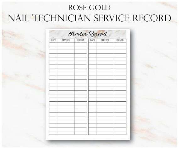 Rose Gold Nail Technician Small Business Planner, Nail Artist Client Forms, Nail Tech Printable Planner, Rose Gold Planner WHATS INCLUDED: ► Appointments ► Client History Cards ► Nail Technician New Client Page ► Service Log Page ► Income Tracker ► Expense Tracker ► Inventory List ►