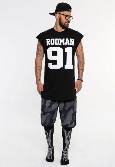 rodman 91 black  #vagrancylifestyle #handmade #top #man #sleeveless #tshirt