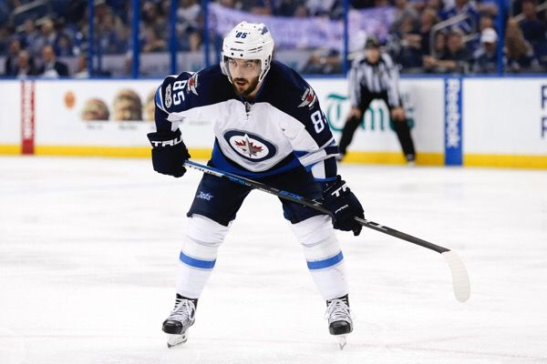 Mathieu Perreault suffers broken thumb   Dr. Parekh = Jets Mathieu Perreault with broken Thumb towards the tip. Nail needed to be removed due to blood collecting under the nail. RTP…..