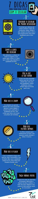 #Infográfico - 7 Dicas para Tirar Boas Fotos com o Celular