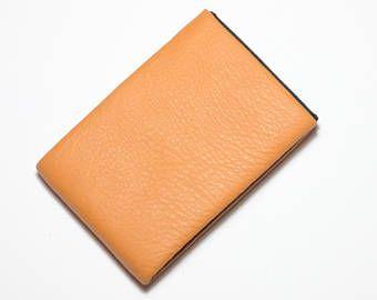Best Minimalist Wallet, Leather Wallet, RFID Wallet - Original NERO Wallet - Orange