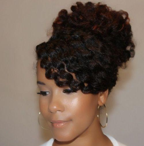 Natural Hair Diy Swoop Bang High Bun How To Amp Diy
