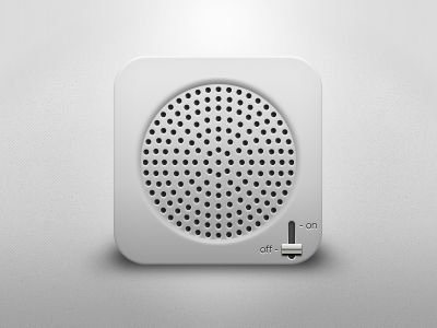 Dieter Rams style speaker icon by Giulio Magnifico