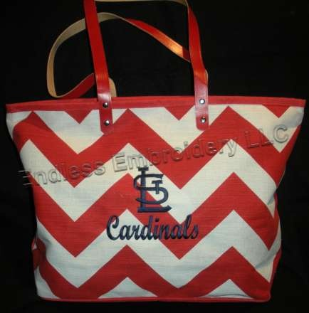 Stl Cardinals And Chevron Love This Would Be A Great Diaper Bag Pinterest Baseball