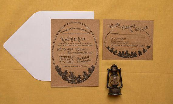 rustic camping wedding invitation married life pinterest wedding weddings and woodsy wedding - Camping Wedding Invitations