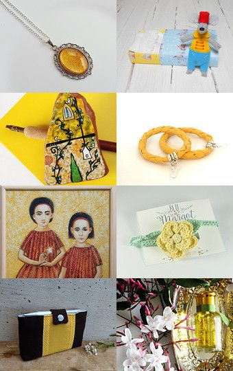 Amazing items in my favorite color... YELLOW TIME!! by Carlotta on Etsy--Pinned with TreasuryPin.com