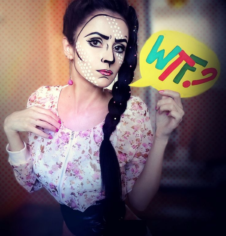 Pop-art makeup. #dots