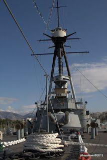 Battleship Averof, Naval Museum at Flisvos Marina. (Walking Athens Flisvos - r.26)