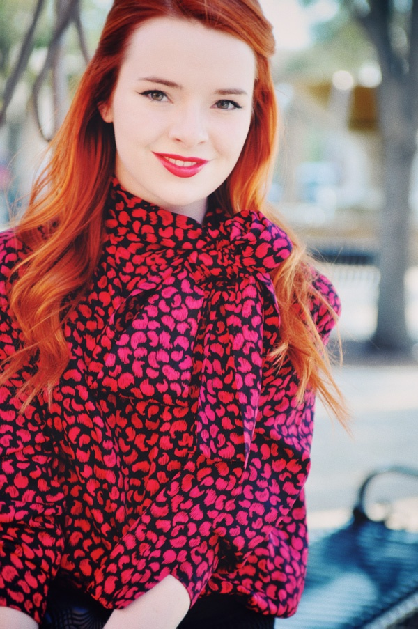 Love the bow at the neck. She's like a modern, fresh-faced version of Joan Holloway.: Shoes, Hair Colors, Red Hair, Style Inspiration, Jane Aldridge, Hair Makeup, Sea, Jane S Style
