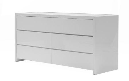 Double dresser in high gloss white.