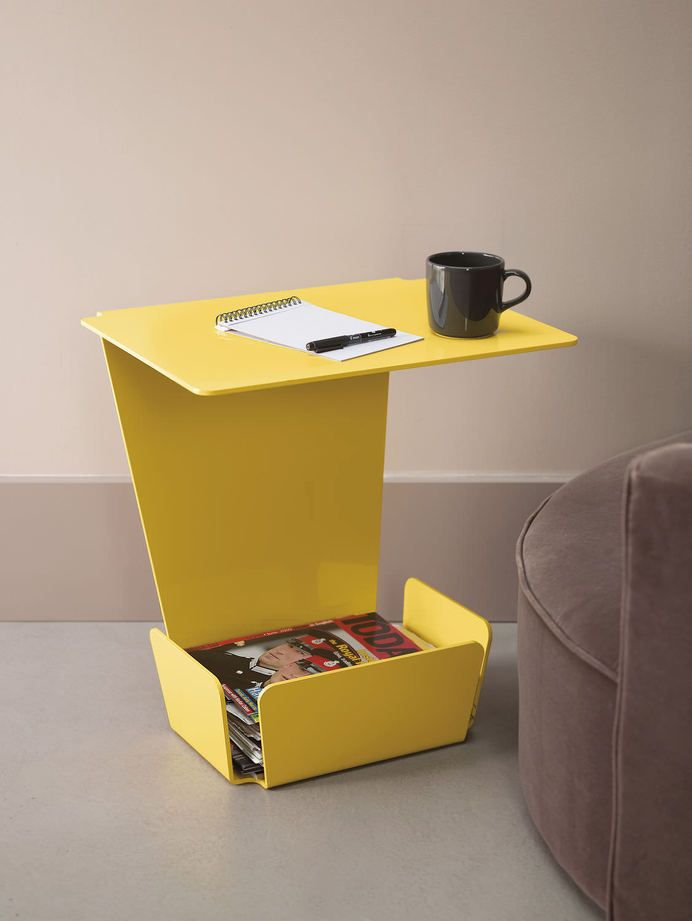 Fun yellow Side Table #sidetable side table design #uniquesidetable modern design #creativedesign creative side tables . See more at www.coffeeandsidetables.com