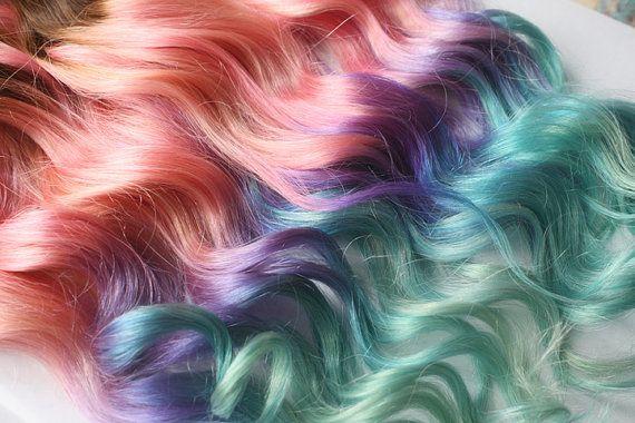 Hoi! Ik heb een geweldige listing gevonden op Etsy https://www.etsy.com/listing/160523669/clip-in-pastel-hair-extensions-pink-hair